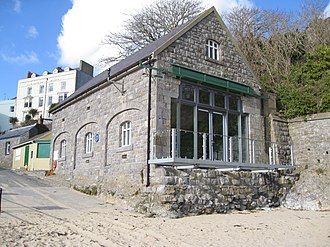 Tenby Lifeboat Station - The rebuilt 1894 Victorian lifeboat station in Tenby harbour