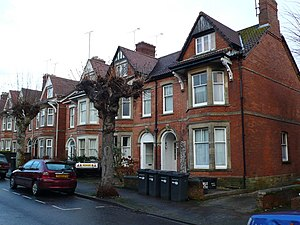 House in multiple occupation - Houses in Yeovil, some of which have become HMOs.