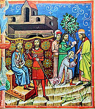Solomon and Count Vid, Géza and the Byzantine envoys