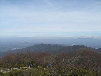 Brasstown Wilderness - View from Brasstown Bald in February
