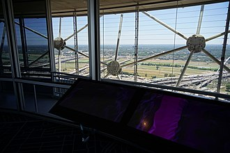 "Reunion Tower - A view from Reunion Tower's ""GeO-Deck"" observation deck"