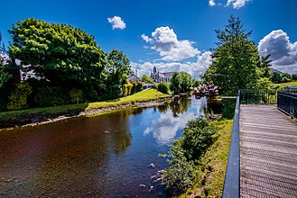 Crossmolina - Image: View of Deel River, Crossmolina, County Mayo, Ireland