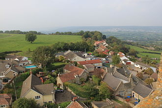 Dundry - view of part of the village taken from the church tower.