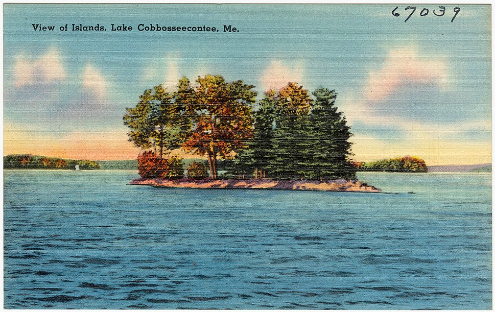 View of Islands, Lake Cobbosseecontee, Me (67039)