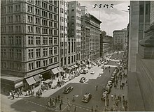 View of Martin Place from Castlereagh St, Sydney (NSW) (7417190710) (2).jpg