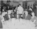 View of table at the dinner honoring President Truman and Vice President Alben Barkley at the Mayflower Hotel in... - NARA - 200008.tif