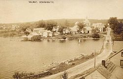 View of the village in 1909