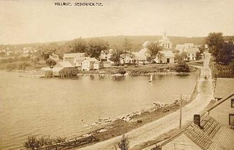 Sedgwick, Maine - View of the village in 1909