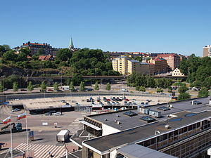 View over Viking Line ferry terminal in Stockholm.jpg