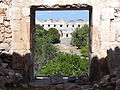 View through Window of House of the Turtles - Uxmal Archaeological Site - Merida - Mexico - 01.jpg