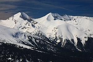 Pirin National Park - A winter view of Pirin and its highest summit Vihren