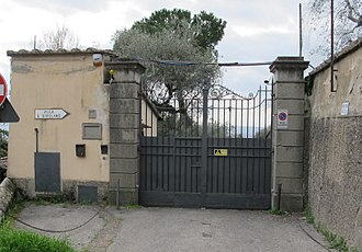 Church of San Girolamo - Gated entrance as it appears in 2013
