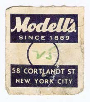 Modell's Sporting Goods - Image: Vintage Modell's tag