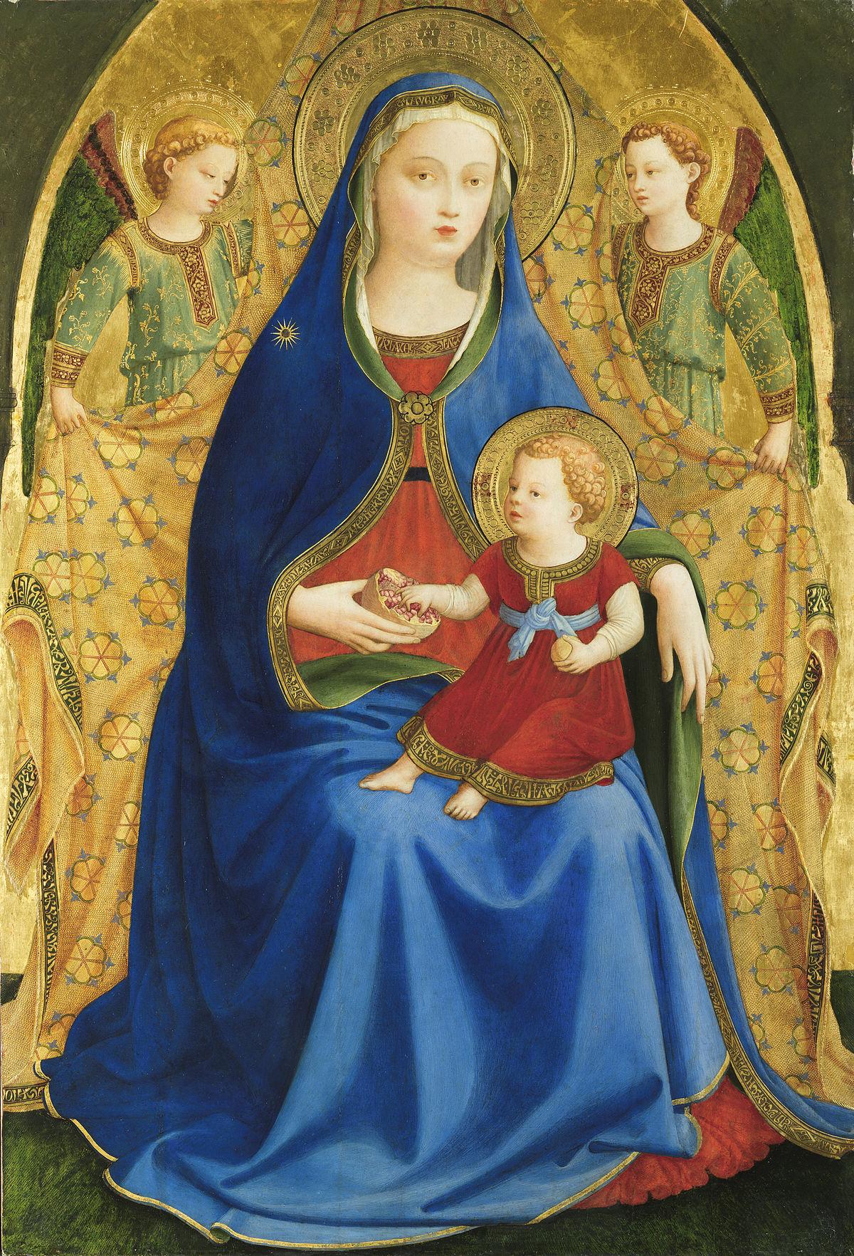 Virgen de la granada (Fra Angelico) - Wikipedia, la enciclopedia libre