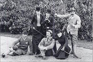 Virginia P. Bacon - Circa 1892. Seated: Walter Rathbone Bacon, Gifford Pinchot, Virginia P. Bacon; Standing: Emily Sloane, Adele Sloane, George Vanderbilt