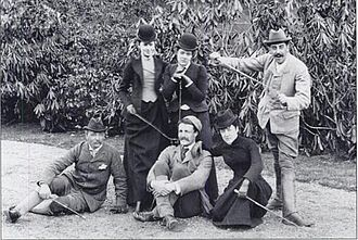 Walter Rathbone Bacon - Circa 1892. Seated: Walter Rathbone Bacon, Gifford Pinchot, Virginia P. Bacon; Standing: Emily Sloane, Adele Sloane, George Vanderbilt