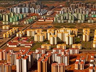 Aerial view of Kilamba, Angola