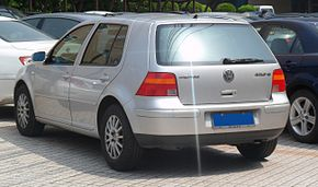 Volkswagen Golf IV rear China 2012-04-22.JPG