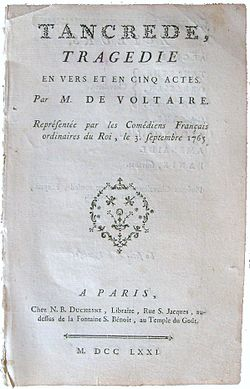Image illustrative de l'article Tancrède (Voltaire)
