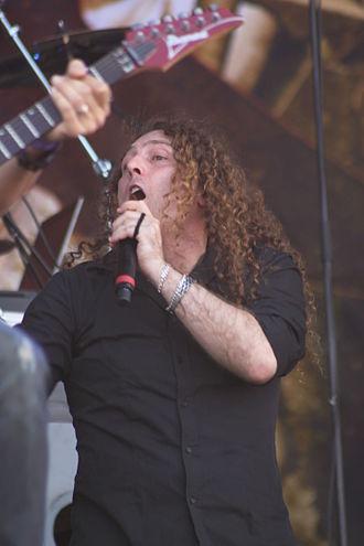 Fabio Lione - Fabio Lione with Angra at the 2014 Hellfest