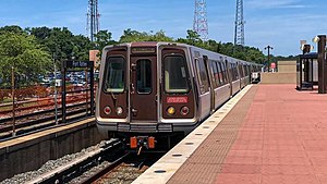 WMATA Alstom Consists on the Red Line arriving at Fort Totten.jpg