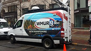 WMUR-TV - The mobile WMUR News vehicle at the 2015 Boston Marathon.