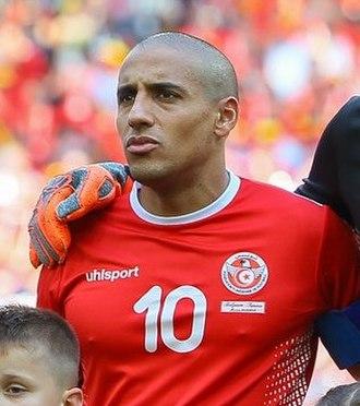 Wahbi Khazri - Khazri lining up with Tunisia at the 2018 FIFA World Cup