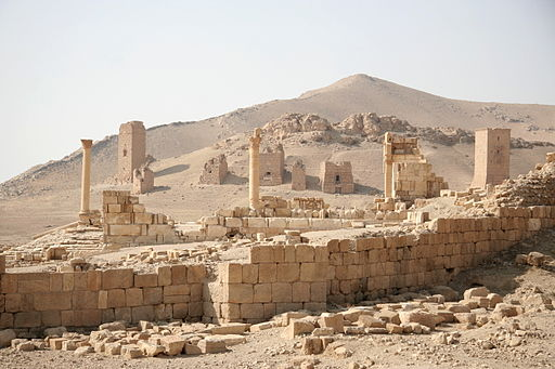 Wall and tombs in Palmyra