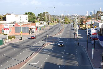 Wanneroo Road - Looking south, towards Perth in Tuart Hill