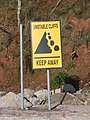 Warning sign, near Seaton Hole - geograph.org.uk - 770928.jpg