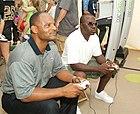 Warren Moon and Marshall Faulk playing Madden NFL 07.jpg