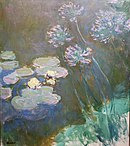 Water Lilies and Agapanthus by Claude Monet, Musée Marmottan Monet.JPG