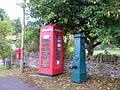 Water Pump and Telephone Box , Manor Rd., Stretton - geograph.org.uk - 1527421.jpg