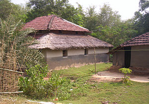Indian vernacular architecture - A village hut in West Bengal
