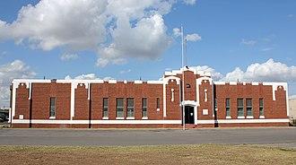 Custer County, Oklahoma - Image: Weatherford Armory