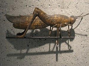 Weathervane of grasshopper, Massachusetts, cir...