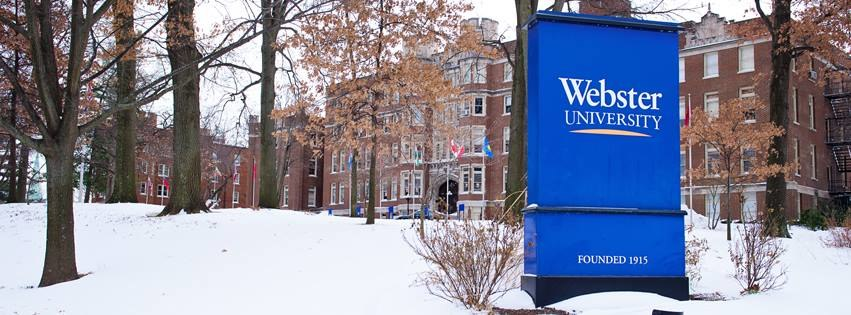 Webster University in the snow, 2014