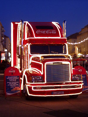 Coca-Cola Christmas truck in Germany