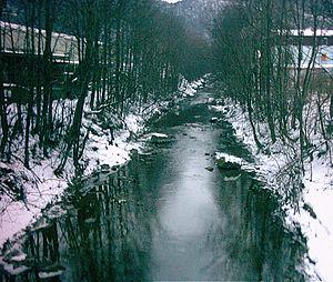 Weißache - The Weißache in its lower reaches near Kufstein