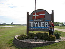 Welcome sign to Tyler, Minnesota.jpg