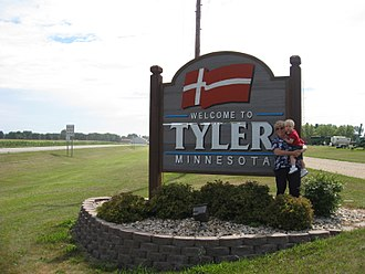 Tyler, Minnesota - Image: Welcome sign to Tyler, Minnesota