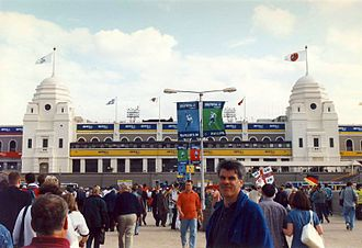 UEFA Euro 1996 - The view of Wembley Stadium from Wembley Way before the semi-final between Germany and England