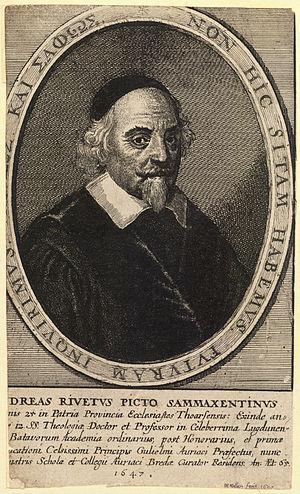 André Rivet - A 1647 engraving of André Rivet by Wenceslas Hollar