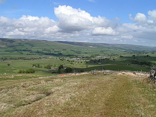Wensleydale Dale or upper valley of the River Ure on the east side of the Pennines in North Yorkshire, England