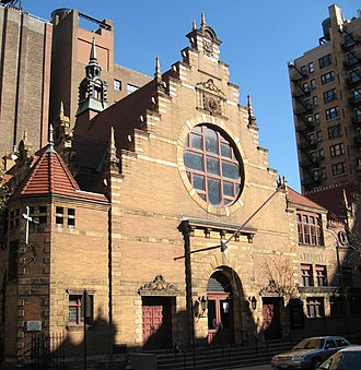 Dutch Colonial Revival architecture - West End Collegiate Church at West 77th Street