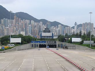 Hong Kong Island - One of the many tunnels that link Kowloon and Hong Kong island.