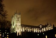 Westminster abbey night