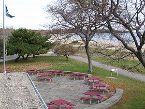Sherwood Island State Park - Image: Westport CT Looking East Pavilion Roof 11172007