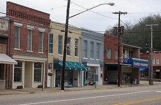 National Register of Historic Places listings in Elmore County, Alabama - Image: Wetumpka Alabama