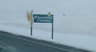 Wheatland County, Alberta - Welcome sign